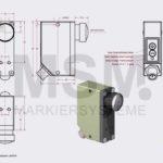 LMT4-F2-200-a Skizze  Sensor Fluoreszenz optisch | MSM Markiersysteme Kennzeichnungssysteme
