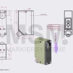 LMT4-F3-ZA Skizze  Sensor Fluoreszenz optisch | MSM Markiersysteme Kennzeichnungssysteme