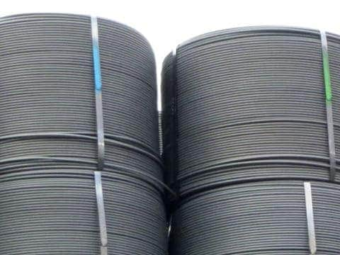 Marking on structural steel wire coil / 300°C