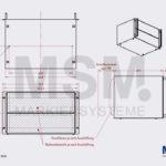 SG24 Skizze Rackgehaeuse Farbmarkiersystem| MSM Markiersysteme Kennzeichnungssysteme