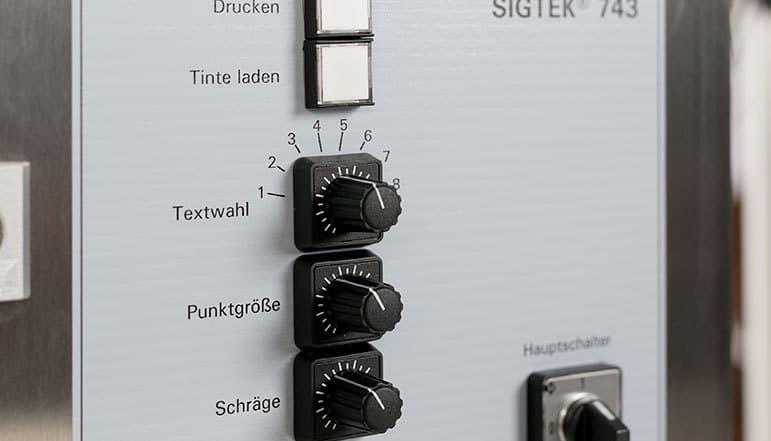 Großschrift Tintenstrahldrucker 7-Düsen Front | MSM Markiersysteme