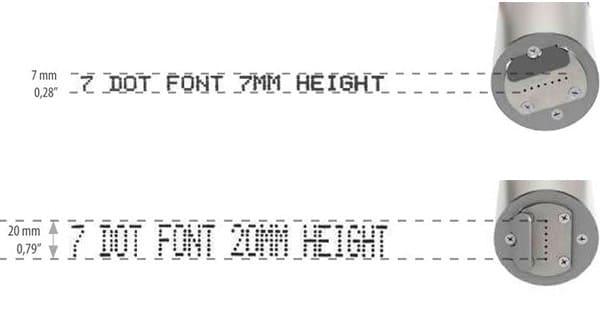 Z101-Lite Großschriftdrucker 7-Düsen Schrift | MSM Markiersysteme
