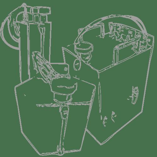 skizze_tanks_02 1,35L 6,5L 20L Edelstahl Tanks Tintenversorgung | MSM Markiersysteme